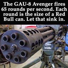 Nose Gun In the A-10Warthog...