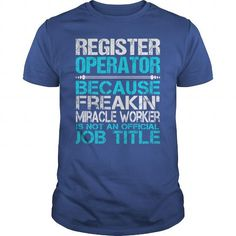Awesome Tee For Register Operator T Shirts, Hoodie