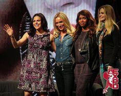 Lana Parrilla, Kristin Bauer van Straten, Merrin Dungey and Victoria Smurfit at Calgary Expo 2015