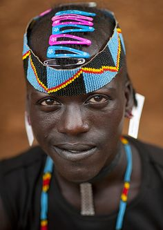 Tsemay Warrior With Hair Slides - Ethiopia
