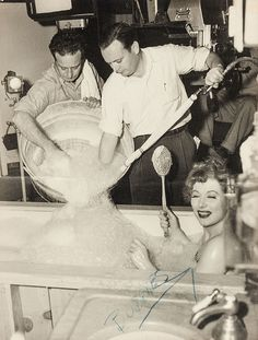 Greer Garson on the set of Julia Misbehaves, directed by Jack Conway, 1948.