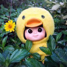 Yellow + Green = Have fun with Mui-Chan