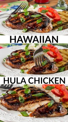 """These low-carb chicken breasts marinate overnight in a flavorful """"Hawaiian-style"""" marinade. The results are mouthwatering!"""