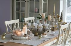 Golden Christmas / Christmas table / Decorations