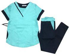 Resultado de imagen para AMBO ALABAMA uma marino y aqua Spa Uniform, Rubber Gloves, Scrub Sets, Spandex, Scrubs, Alabama, Blazer, Medical, Nurse Uniforms