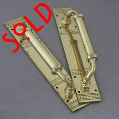 Late Victorian Pull Handles - Architectural Decor Pull Handles, Knobs And Handles, Door Handles, Art Nouveau, Art Deco, Antique Door Knobs, Victorian Architecture, Doors, Street
