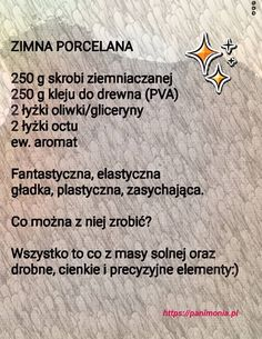 przepis na masę porcelanową Easy Knitting Projects, Diy Projects To Try, Diy For Kids, Crafts For Kids, Teachers Day Gifts, Preschool Art, Kids And Parenting, Activities For Kids, Decoupage