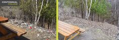It's , and at , the society has done their part, cleaning up the pathway at Progress Campus, as seen here. Student Society, Centennial College, Earth Day, Clean Up, Outdoor Furniture, Outdoor Decor, Pathways, Environment, Wood