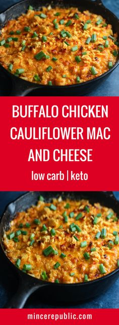 """Buffalo Chicken Cauliflower """"Mac"""" and Cheese 