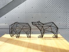 SHADOW WIRE DESKTOP RACK ELEPHANT BEAR