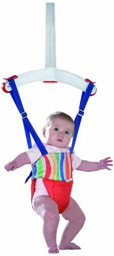 Lindam Jump About Plus - Columpio elástico para bebés, color rojo