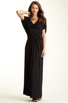 Draped Front Ruched Back Dress on HauteLook