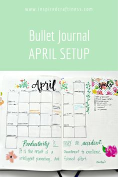 Bullet Journal April Layout
