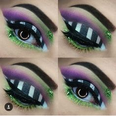 Are you looking for ideas for your Halloween make-up? Browse around this site for cool Halloween makeup looks. Beetlejuice Makeup, Beetlejuice Halloween, Female Beetlejuice Costume, Beetlejuice Characters, Beetlejuice Wedding, Eyeliner, Eyeshadow Makeup, Mascara, Halloween Stuff