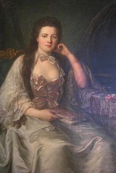 Madame de Montesson, second wife to Louis-Philippe I duc d'Orleans (1738-1806) by Guillaume Voiriot, 1760