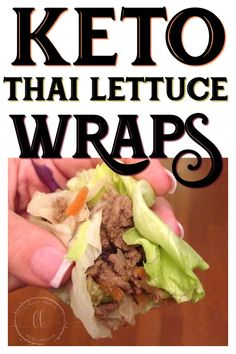 Low Carb Recipes To The Prism Weight Reduction Program These Keto Thai Lettuce Wraps Are A Dairy-Free Keto Meal That Everyone Will Love Simple Ingredients, Tons Of Flavor And Perfect For Feeding A Crowd Or For Weekly Meal Prep Keto Foods, Keto Approved Foods, Vegan Keto Diet, Vegetarian Keto, Paleo, Diet Dinner Recipes, Keto Dinner, Lunch Recipes, Dairy Free Keto Recipes