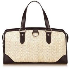 Burberry Pre-owned: Straw Handbag.