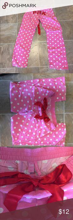 Pink Victoria's Secret pajama pants SZ Small Good used condition. PINK Victoria's Secret Intimates & Sleepwear Pajamas