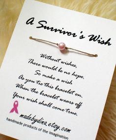 Wish Bracelet for Breast Cancer Awareness