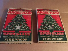 2 boxes vintage angel-hair spun glass doubl - glo, made in USA.