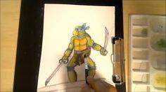 Dremico's Art Channel: How to Draw Teenage Mutant Ninja Turtles  Waterco...