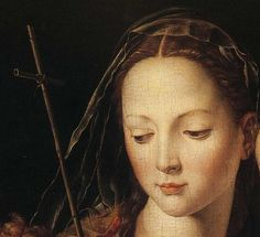 """ Agnolo Bronzino ( 1503 - 1572 ) detail of The Madonna and Child with the Infant St. John the Baptist. """
