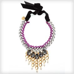 Great colours for this season  £95 FREE UK DELIVERY http://www.cottonandgems.com/jewellery/necklaces/clare-hynes-purple-yue-necklace