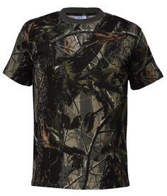 Erdő terepmintás pamut póló