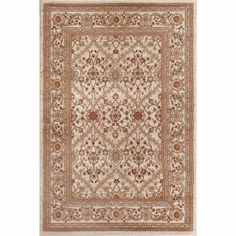 World Rug Gallery Oriental Design Floral Area Rug, White