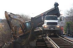 Hi-rail trucks and equipment Rc Trucks, Dump Trucks, Sterling Trucks, Road Construction, Norfolk Southern, Ford Tractors, Heavy Duty Trucks, Rail Car, Train Pictures