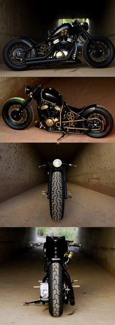 Honda Shadow bobber. Motorcycles. Handsome strong men. Мотоциклы и сильные мужчины. Motorky a opravdové muži.