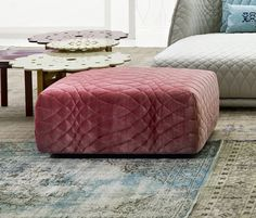 quilted ottoman! patricia urquiloa