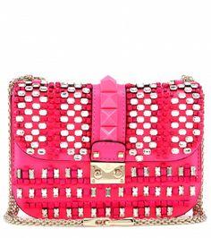 Valentino - Lock embellished leather shoulder bag - mytheresa.com GmbH