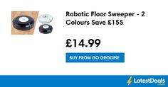 Robotic Floor Sweeper - 2 Colours Save £155, £14.99 at Go Groopie