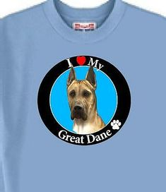 I Love My Great Dane. I use a Unique Steam Transfer Process. If a Problem -- I always try to make things right. This is a Character Graphic Transferred onto a. Great Dane Dogs, I Love Dogs, My Pet Dog, Black Labrador Dog, Valentines Day For Boyfriend, Orange Theory Workout, Tour T Shirts, Cat Shirts, Animal Rescue