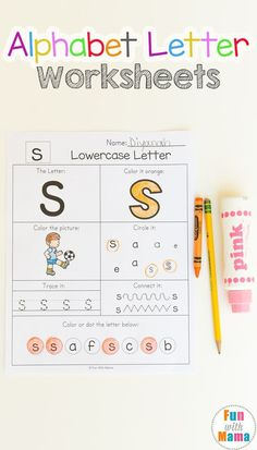 These no prep alphabet worksheets are great alphabet letter practice for preschoolers. The letter worksheets include traceable letters, alphabet coloring and more to help reinforce letter recognition in preschoolers. Printable Alphabet Worksheets, Preschool Printables, Preschool Worksheets, 3 Year Old Worksheets, Free Printable, Handwriting Worksheets, Handwriting Practice, Toddler Learning, Preschool Learning
