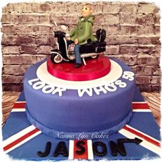 Lambretta scooter cake by Nanna Lyn Cakes
