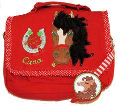 Kindergartentasche Pony,Pferd+Kuschel-Mähne+Glück von Illustramenti - Nadelmalerei - Embroidery auf DaWanda.com