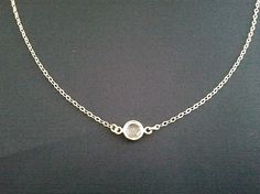 Swarovski clear crystal 14k gold filled necklace
