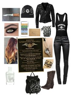 """""""Supernatural"""" by chia2331 ❤ liked on Polyvore featuring Anine Bing, MuuBaa, Frye and Zoya"""