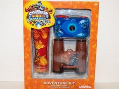 Skylanders Giants 3 Piece Adventure Pack with Camera Binoculars and Flashlight by Sakar Int'l. $34.72. This great adventure kit includes 3 great items to delight any Skylander fan. Each piece is decorated with your favorite characters. you will receive in the kit a 35mm camera that is focus free with no batteries needed. you will also receive a nice set of 4X28 binoculars and a Flashlight.