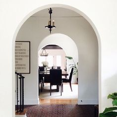 those arches Pretty Room, Mudroom, Curb Appeal, Interior Inspiration, My Dream, Oversized Mirror, Sweet Home, Stairs, House Design