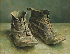 Marius van Dokkum... These very worn shoes reminds me of the mad wanderer poet, Arthur Rimbaud