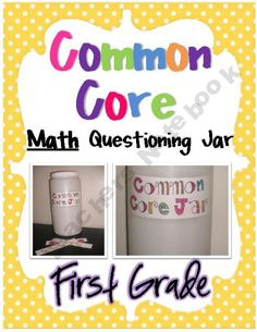 1st Grade Common Core Questioning Jar- Math $8
