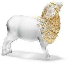 Lalique Large Ram Object