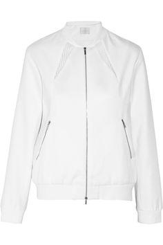 Richard NicollMesh-paneled cotton bomber jacket