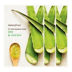 Innisfree New Its Real Squeeze Aloe Mask 3pcs / 3 layer sheet #Innisfree