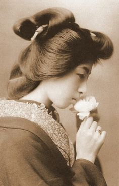 Geisha girl, Japan, Vintage photo, 1800's