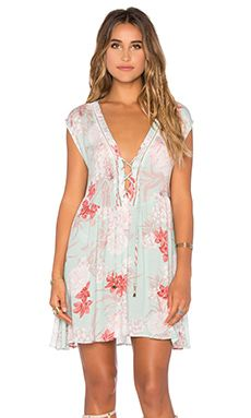 MINKPINK Back Yard Bliss Dress in Multi Mint