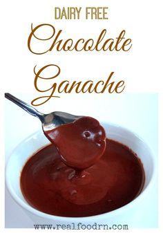 Chocolate Ganache {dairy-free}. Healthy chocolate sauce that goes great on everything from ice-cream to flourless chocolate cake! #paleodessert #paleo